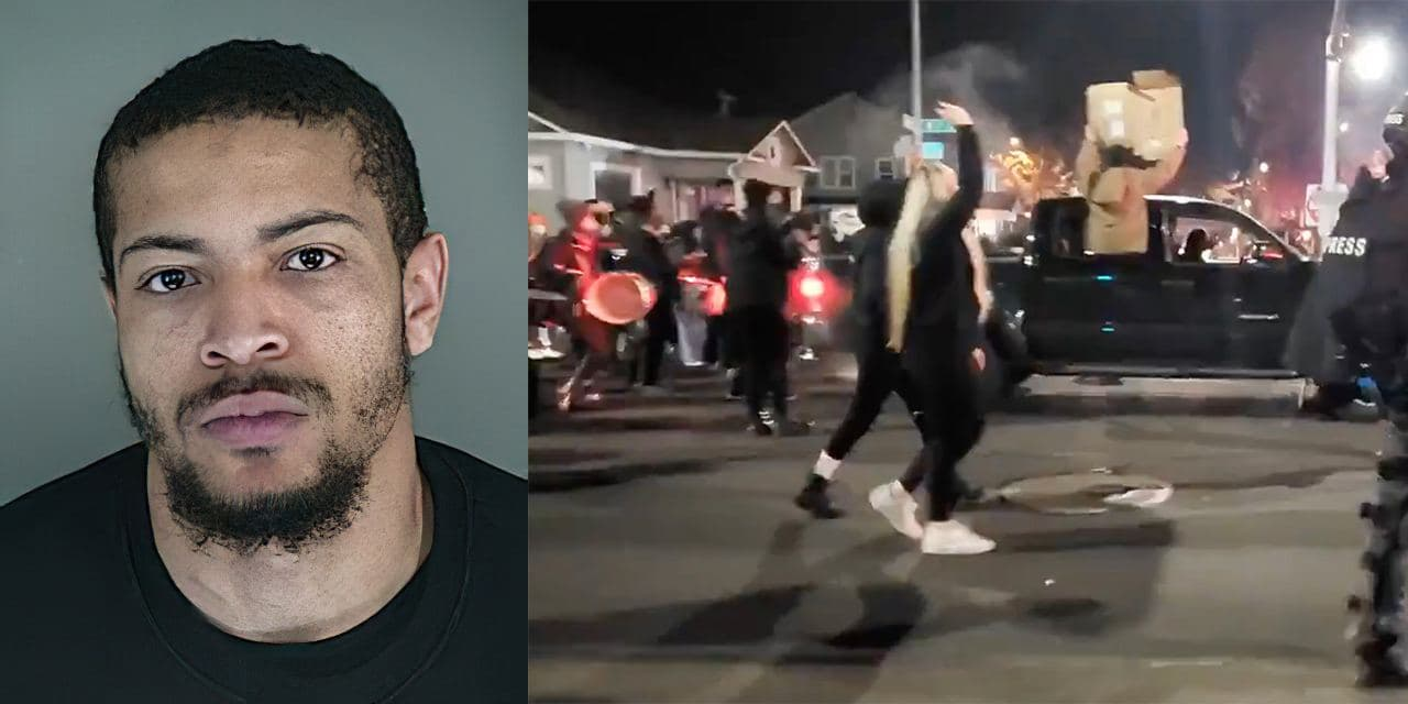 BLM protest in Oregon over police shooting of career criminal who charged at cops with a knife
