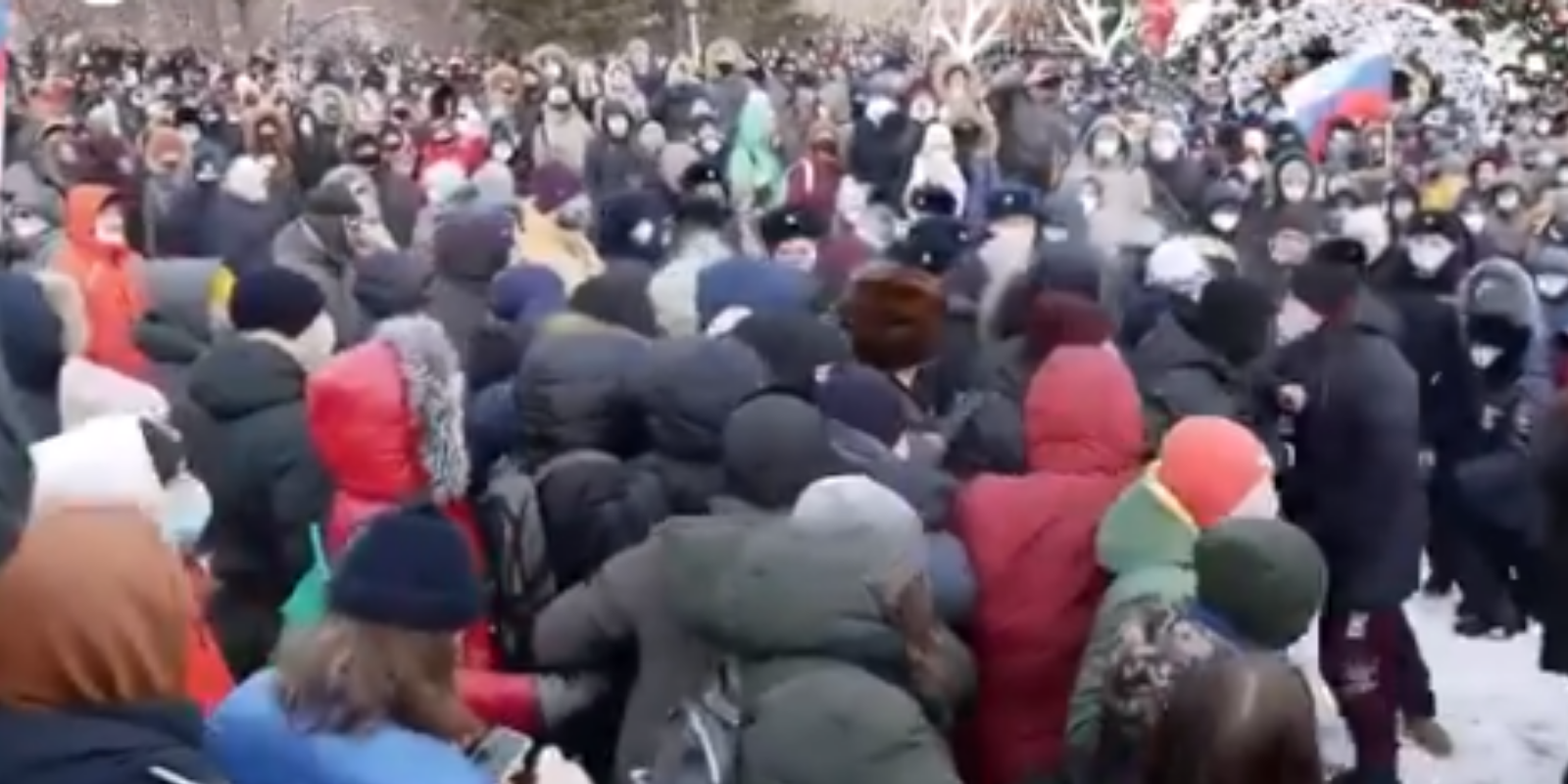 Massive protests in Russia have led to over 2000 arrests