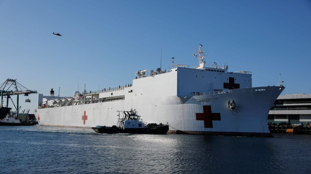 Newsom asked to bring Navy hospital ship back to LA by medical union