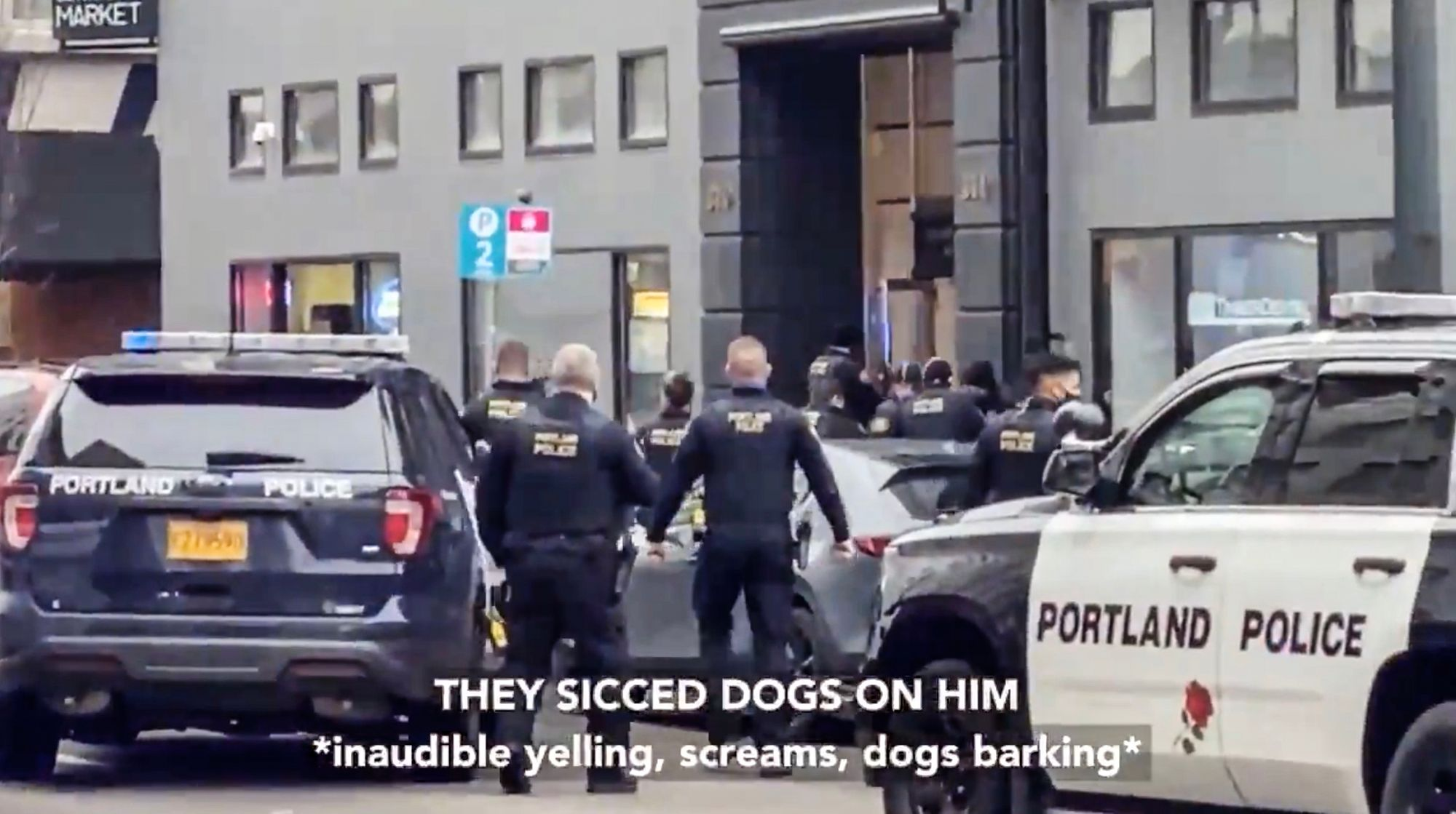 Antifa try to stop police responding to armed man in downtown Portland