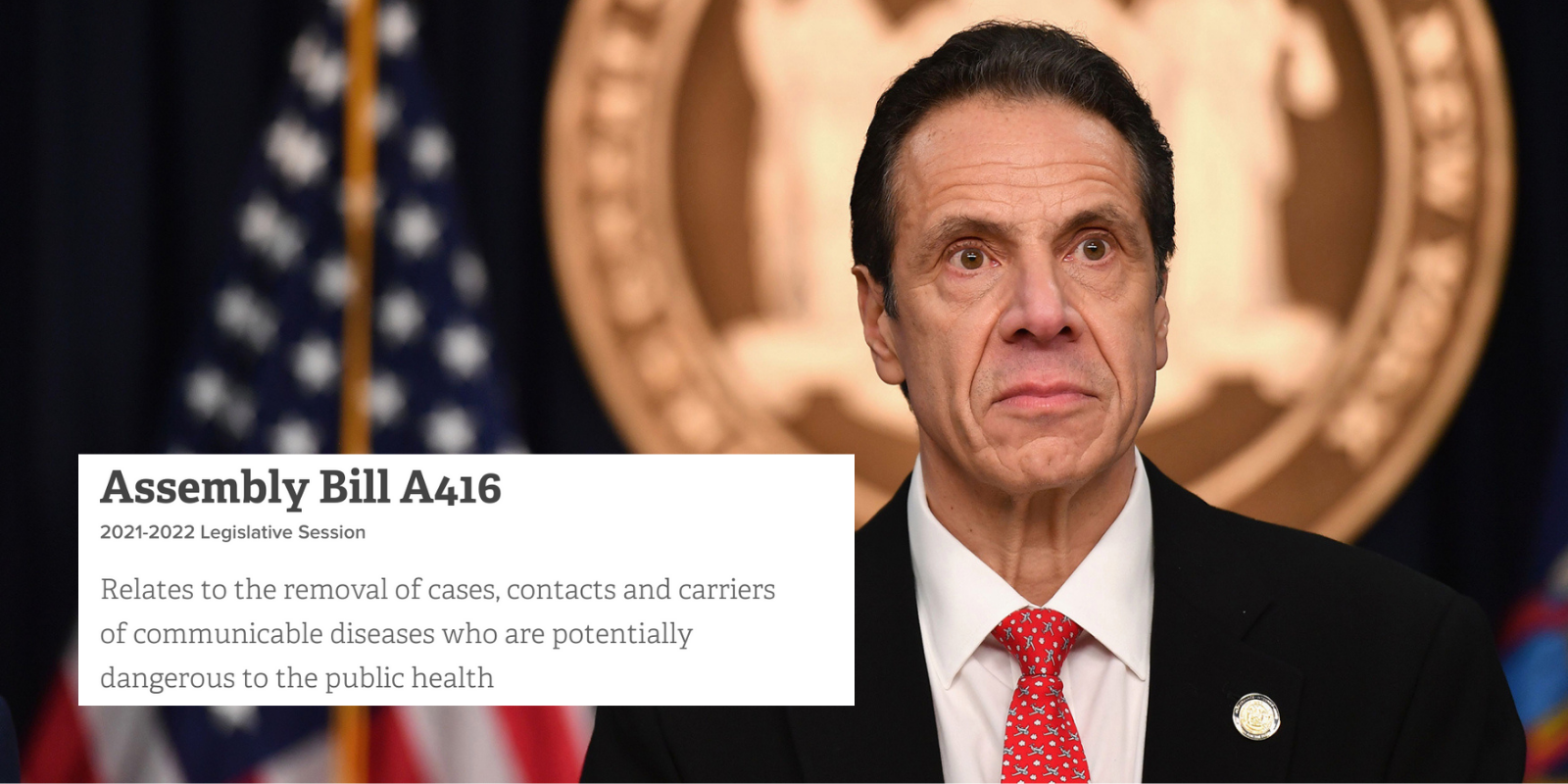 New York bill proposes to detain disease carriers the governor deems 'dangerous to the public health'