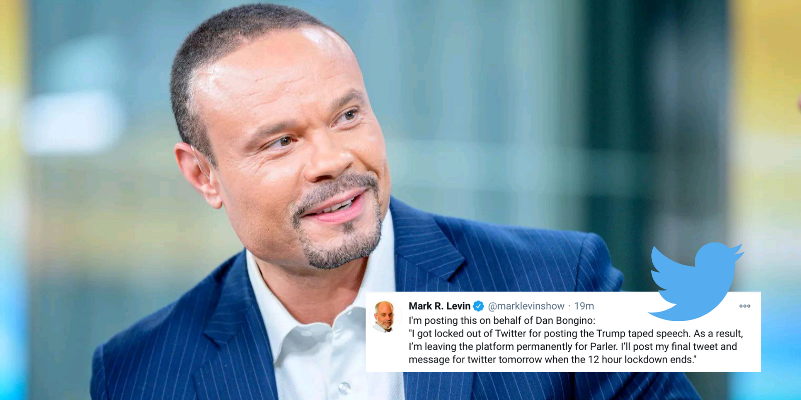 BREAKING: Twitter suspends prominent conservative Dan Bongino for sharing Trump's call to end violence