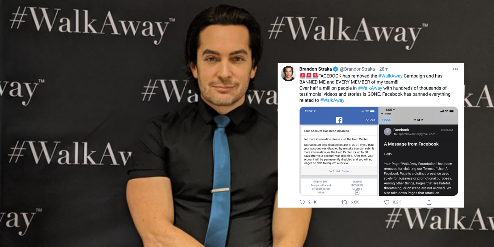 BREAKING: Facebook deletes #WalkAway campaign of 500,000 people as social media purge of conservatives continues