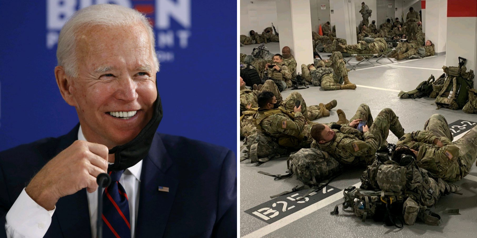 Media FAILS to ask Biden press sec one question about troops sleeping in parking garage