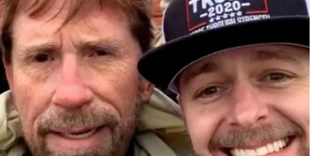 Chuck Norris denies participating in Capitol riot after picture of look-a-like goes viral