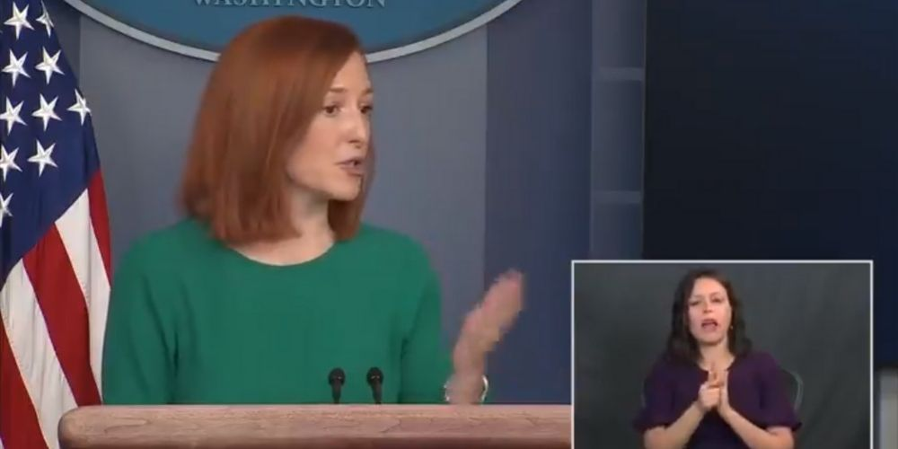 WATCH: Biden press sec grilled by reporter over travel ban hypocrisy