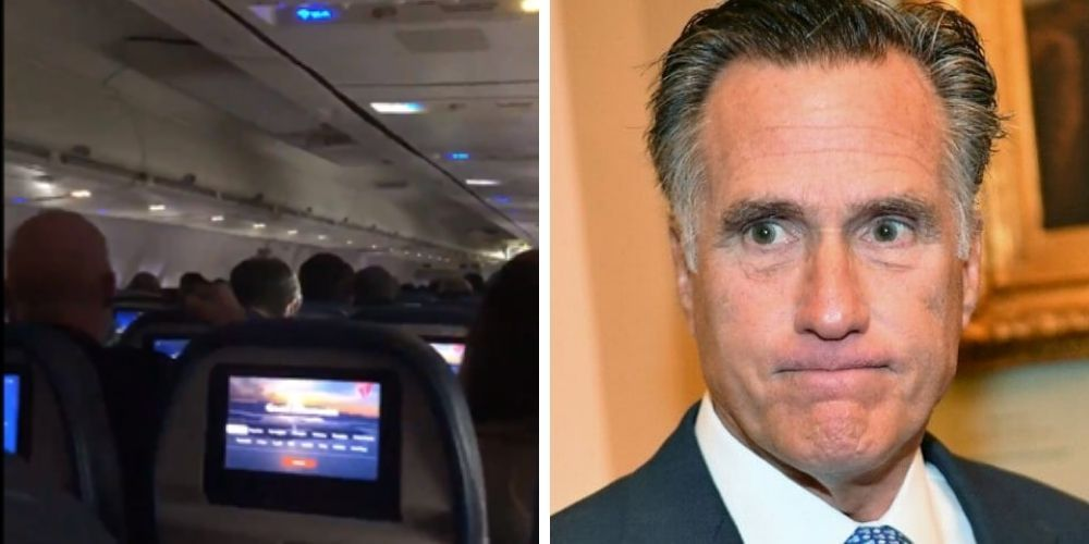 WATCH: Trump supporters heckle Mitt Romney on DC bound flight and call him a 'traitor'