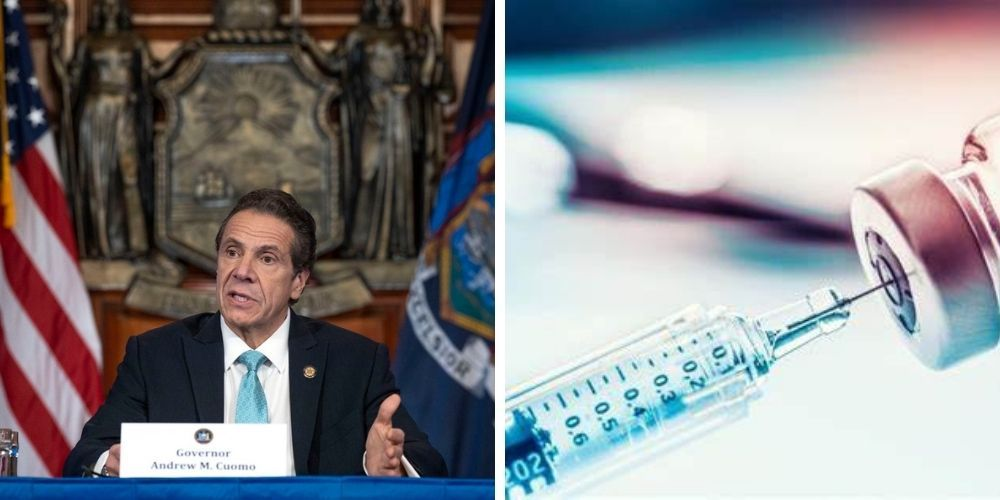 WATCH: Gov. Cuomo threatens to fine NY hospitals $100,000 for slow vaccine distribution caused by his own guidelines