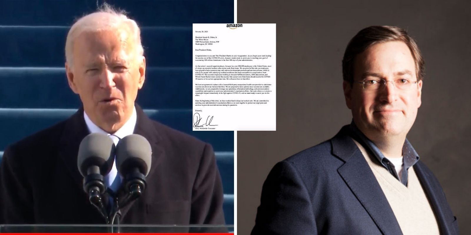 Amazon sends letter to Biden with offer of immediate help for vaccine distribution