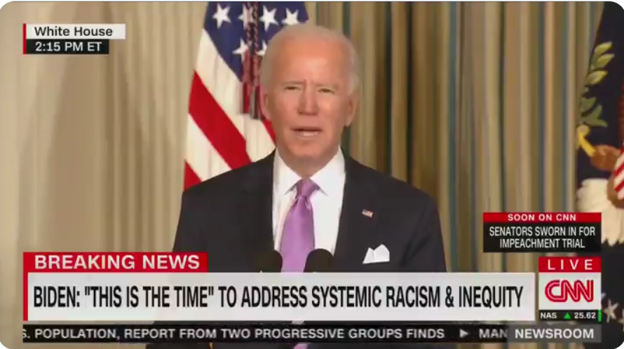 WATCH: Biden says 'this is the time' to address systemic racism and equity by signing two more executive orders