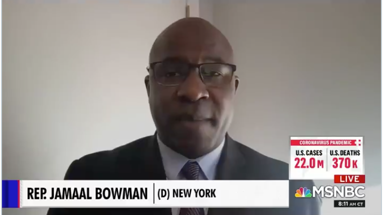 New York Rep. Bowman sees white supremacy in senate rules, the electoral system, student debt, and in nearly every aspect of American culture and governance