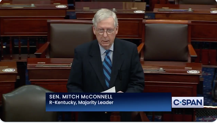 WATCH: Mitch McConnell blames Trump and supporters for Capitol Hill riot