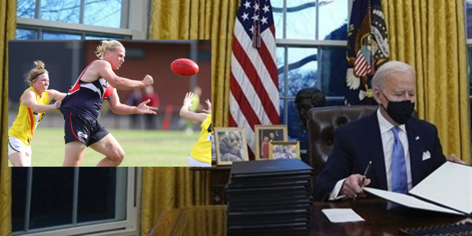 Biden's executive order allowing biological males to compete in female sports is an attempt to appease the far-left at the cost of women's rights