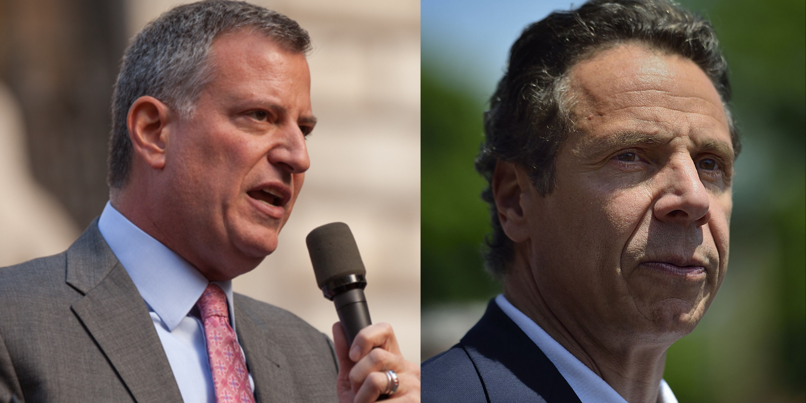 De Blasio stands against Cuomo in battle of the NY Democrats