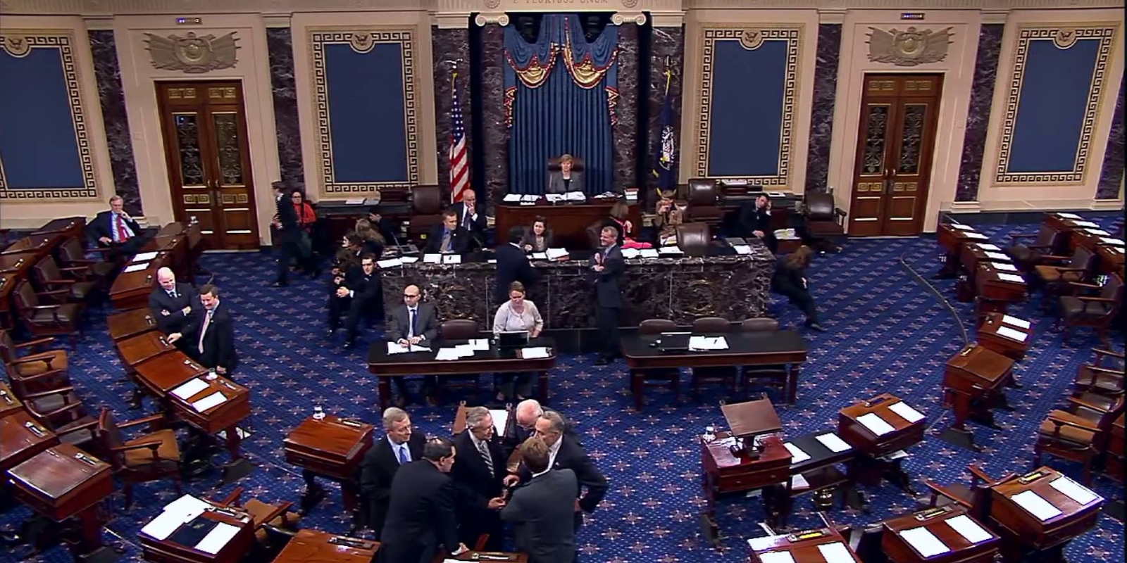 BREAKING: Senate in 'chaos' as Senate votes to hear witnesses, then backtracks