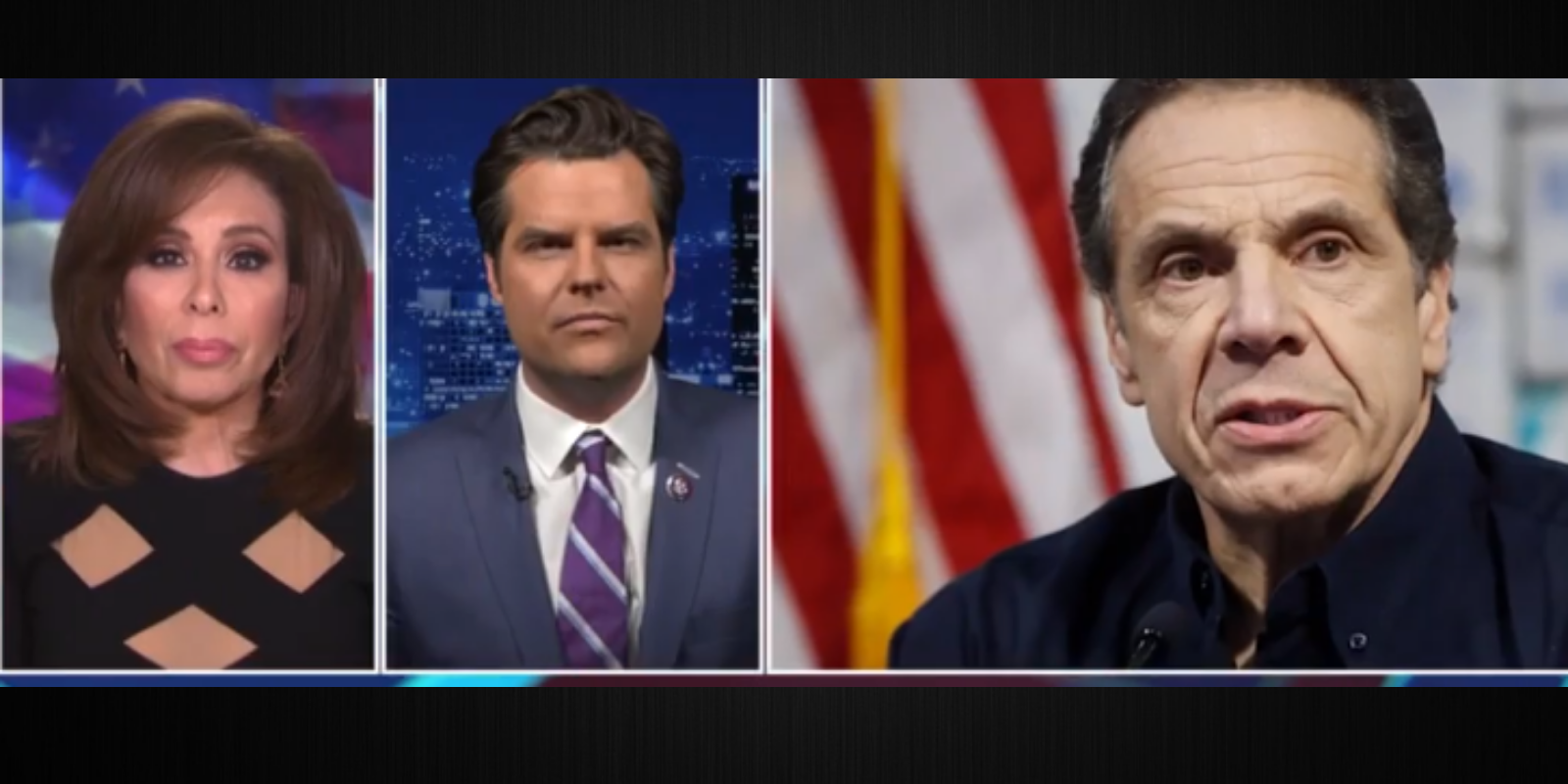 Rep. Gaetz blames mainstream media for going easy on Gov. Cuomo for nursing home scandal