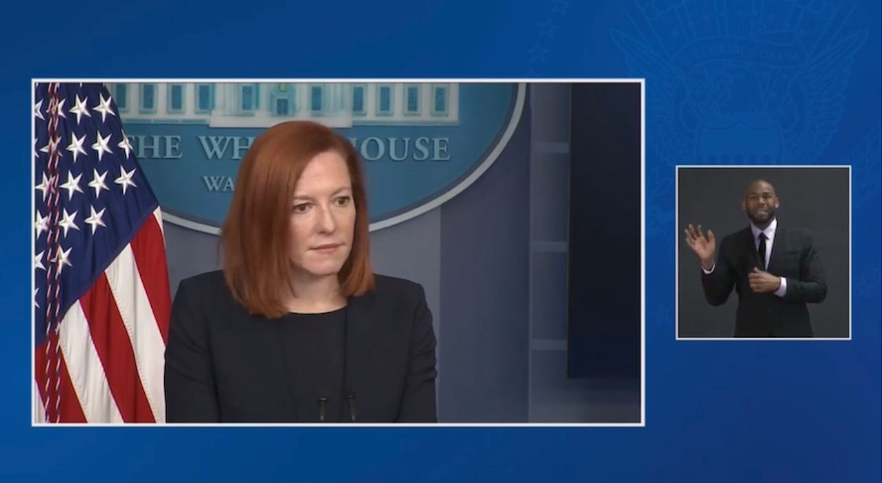 WATCH: Biden press sec defends one week suspension for aide accused of sexual harassment of journalist