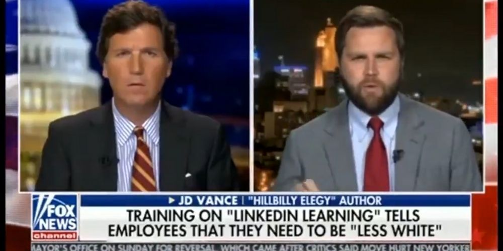WATCH: Tucker Carlson rips LinkedIn for racist training sessions that tell workers to be 'less white'