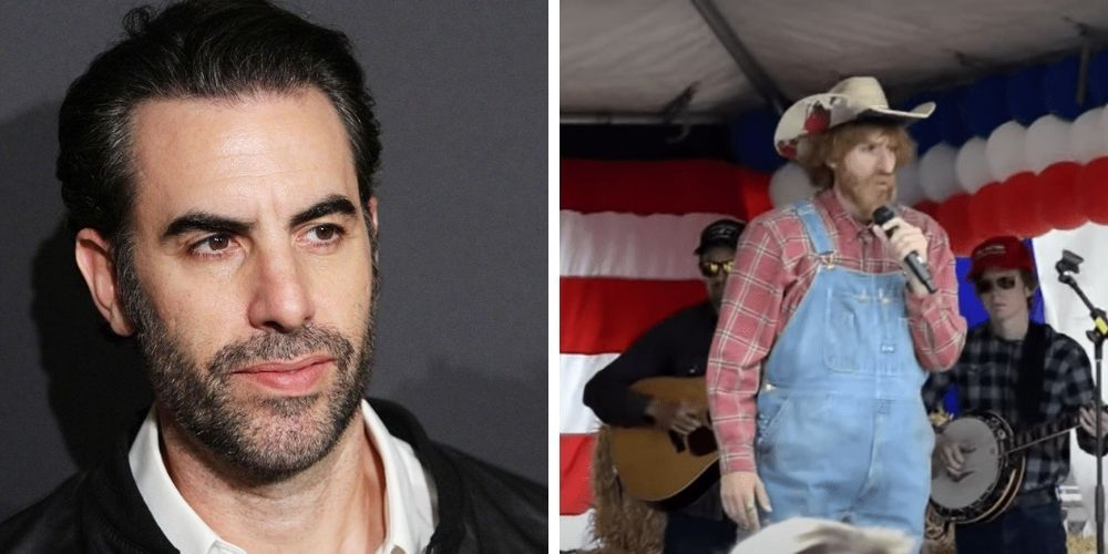 Sacha Baron Cohen announces retirement from undercover satire after infiltrating Washington rally
