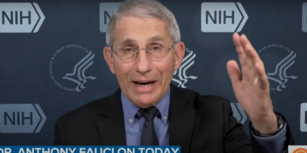 WATCH: Fauci flip-flops on masks again, 'no data that indicates' two masks will improve protection