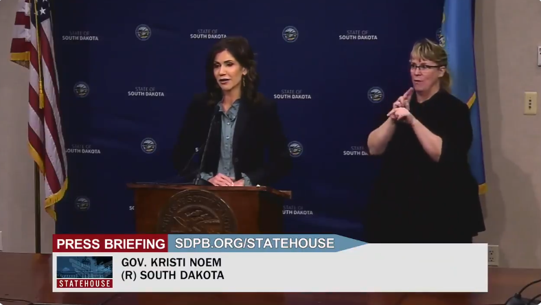 WATCH: Gov. Kristi Noem says there will be no mask mandates in South Dakota—slams CDC's double masking guidance