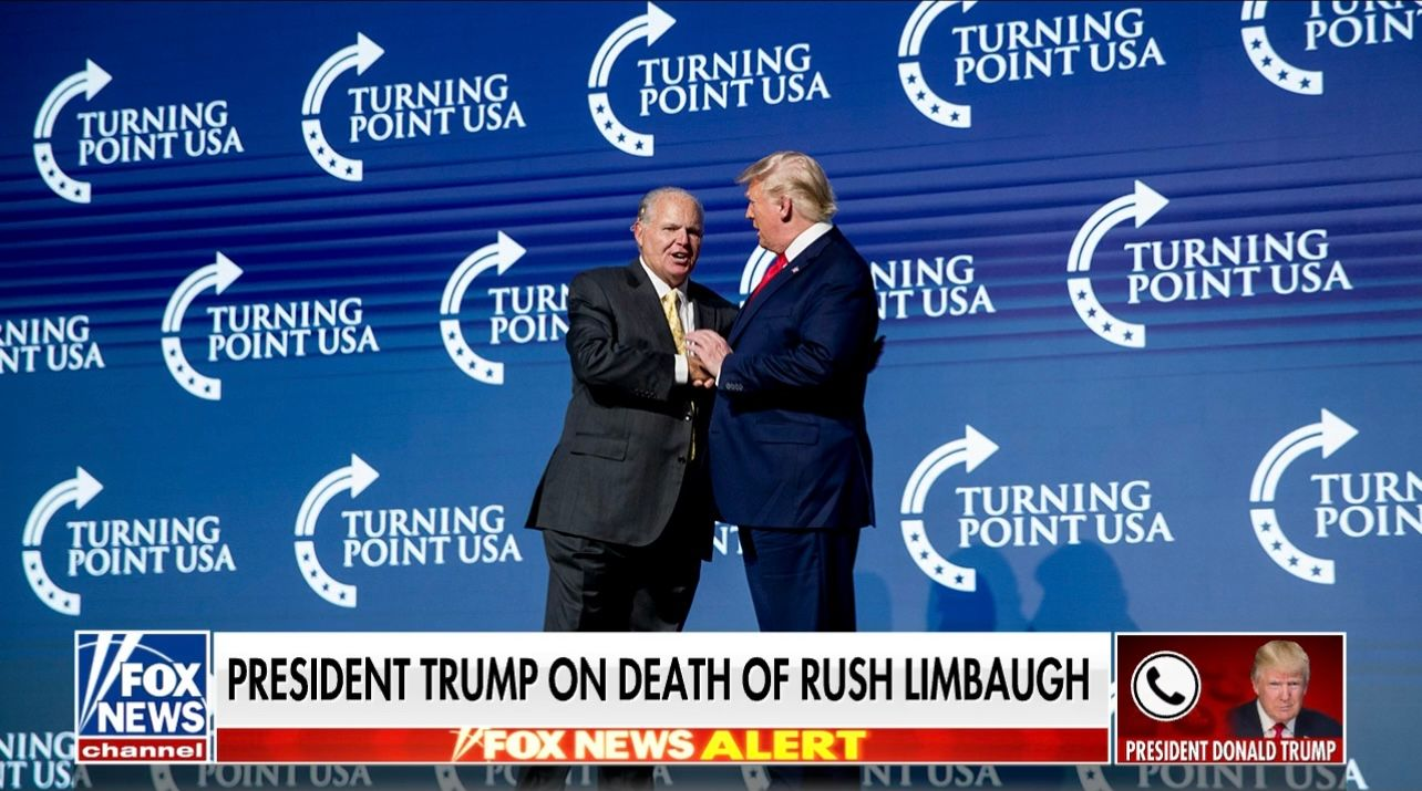 WATCH: President Trump pays tribute to late conservative icon Rush Limbaugh