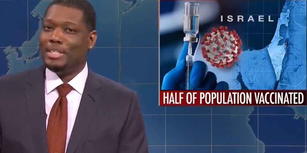SNL host falsely claims Israel only vaccinating Jewish citizens