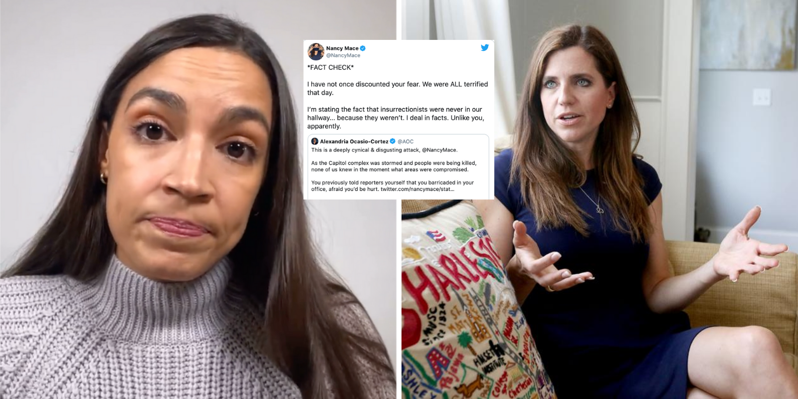 AOC attacks Republican colleague who set the record straight about her location during Jan. 6 riot