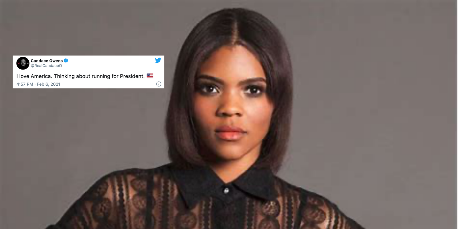 Candace Owens is 'thinking about running for president'