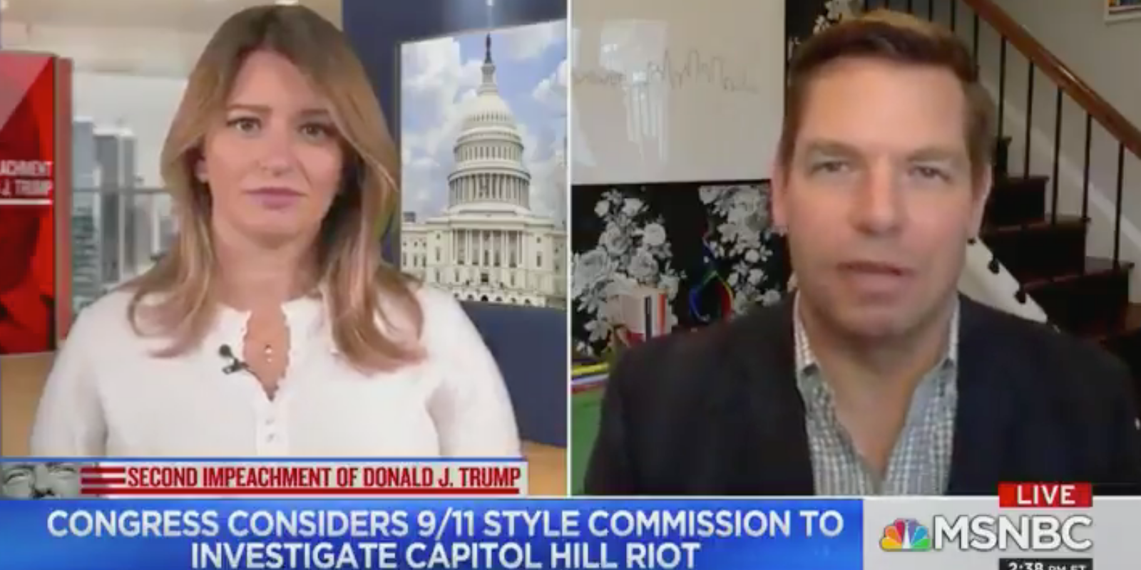 WATCH: Rep. Swalwell says US needs a '9/11-style commission' as well as a 'white nationalism task force'