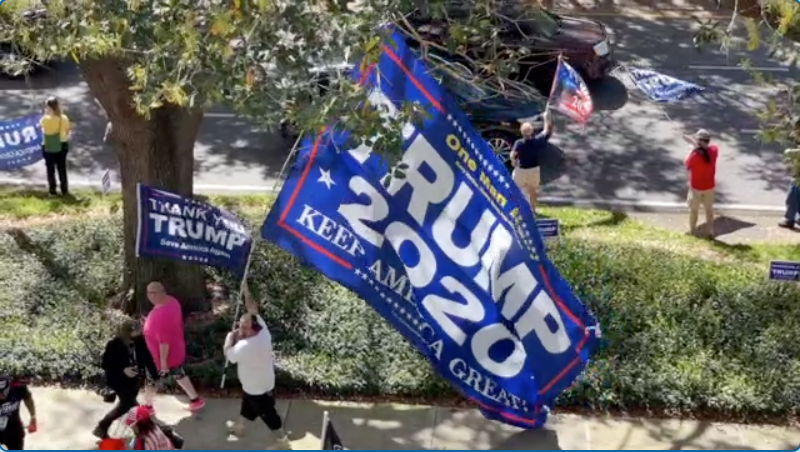 WATCH: 'Trump Train' takes to Orlando streets outside CPAC