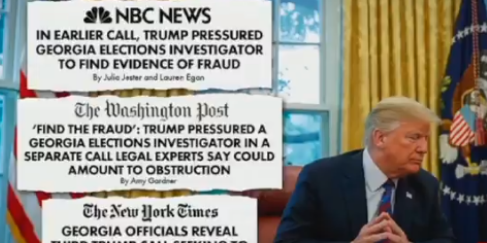 WATCH: Video shows the entire liberal media repeating the 'find the fraud' hoax