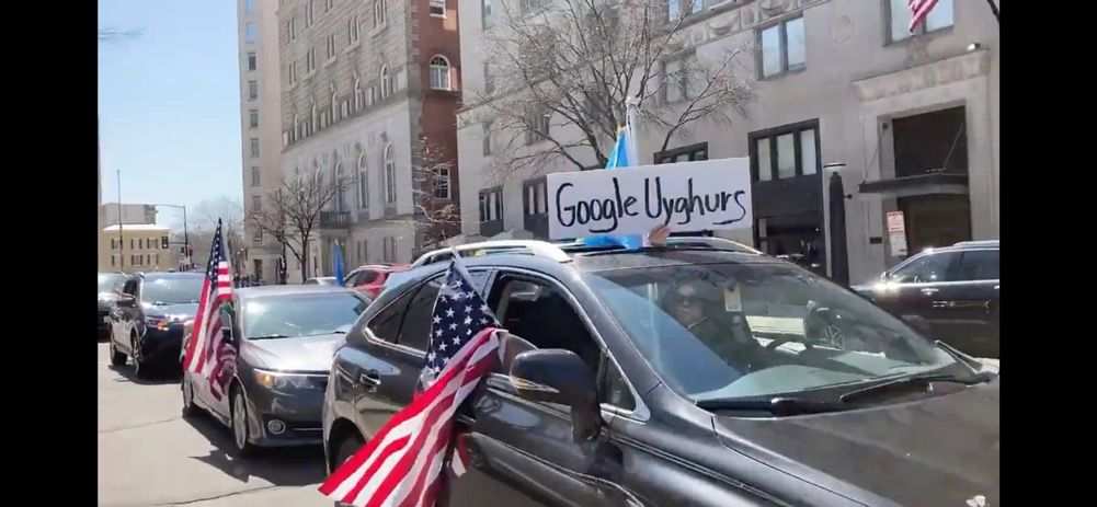 Pro-Uyghur protesters clash with Stop Asian Hate rally in downtown DC