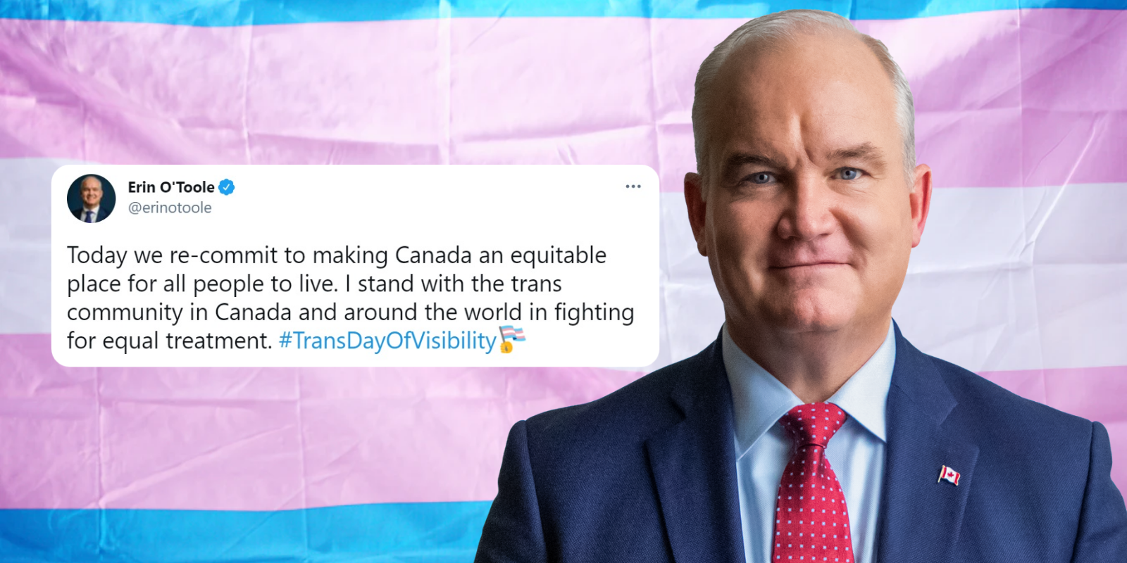 O'Toole tweets message in support of trans community for #TransDayOfVisibility