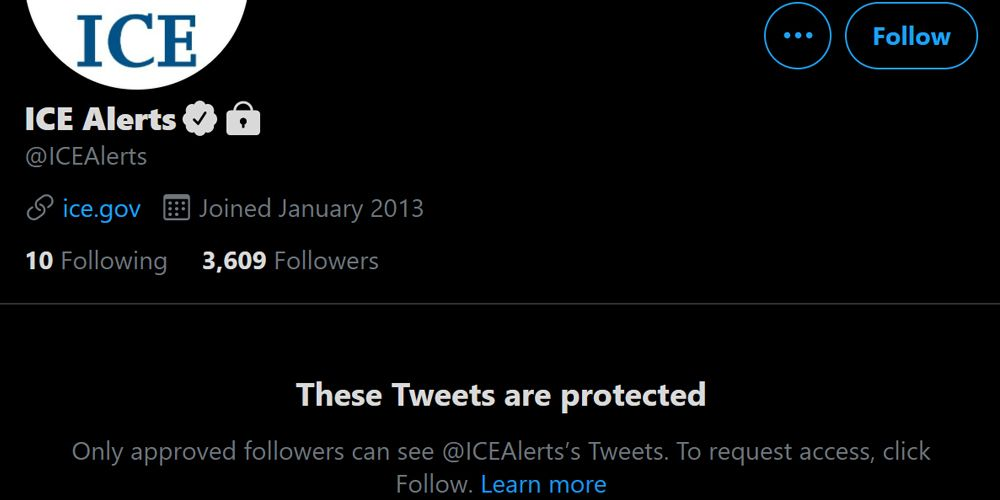 The ICE Alerts Twitter account goes private after Biden administration rescinds Trump directives