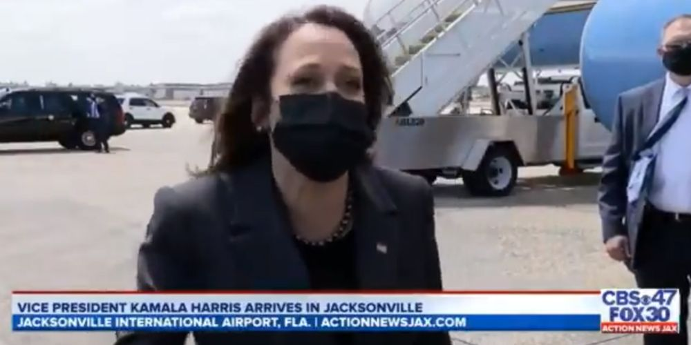 WATCH: Kamala Harris laughs when asked if she will visit the border as crisis intensifies