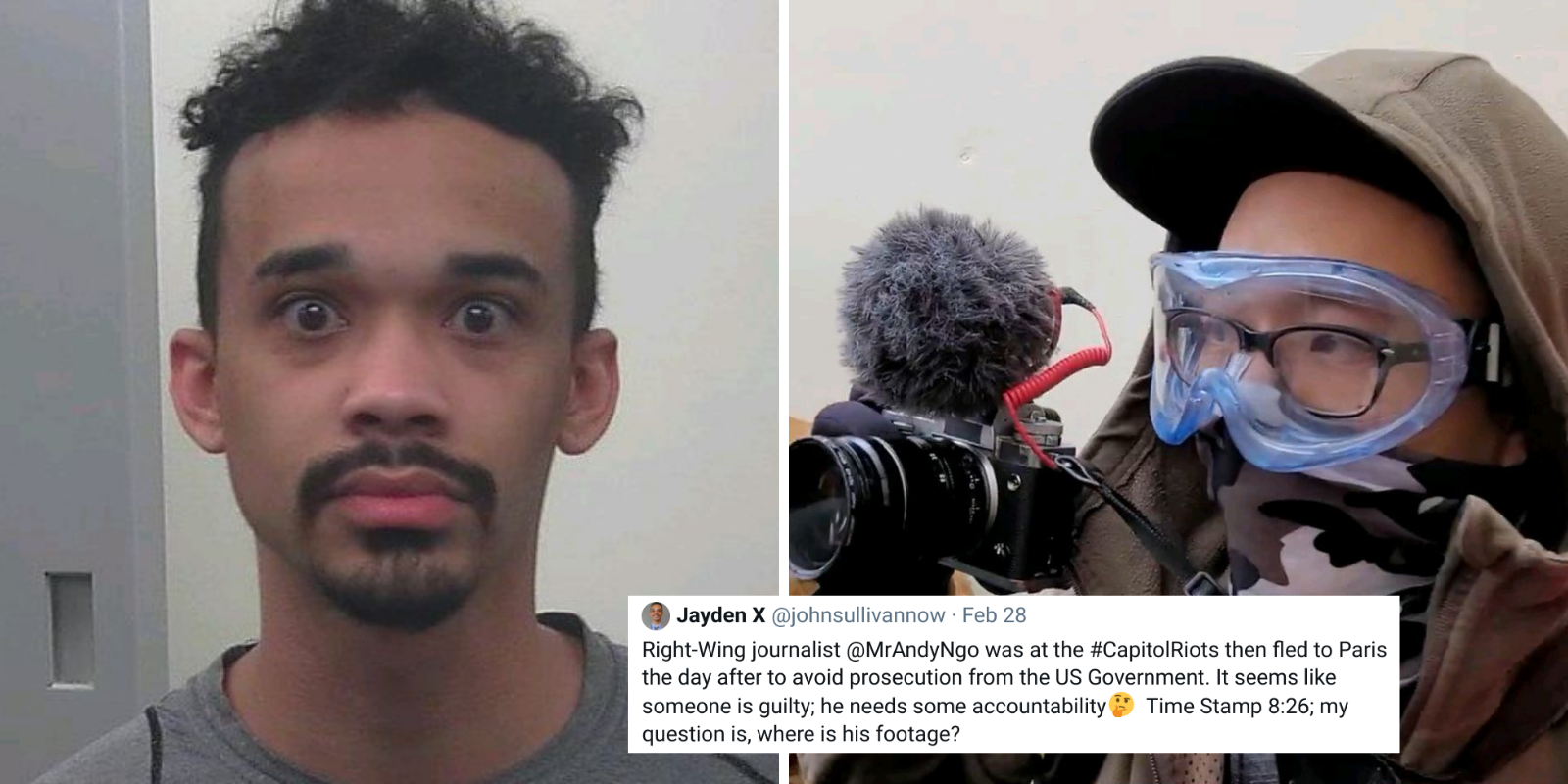 Far-left rioter falsely accuses Andy Ngo of storming Capitol on Jan 6 then fleeing country to avoid prosecution