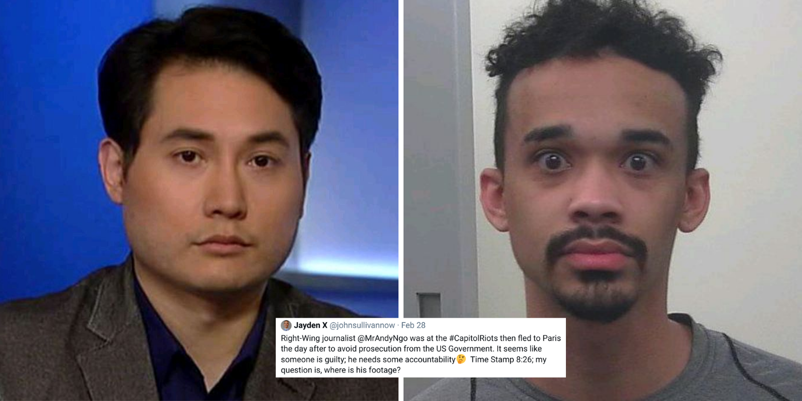 Andy Ngo threatens to sue far-left rioter John Sullivan over false claim he participated in Jan 6 riot