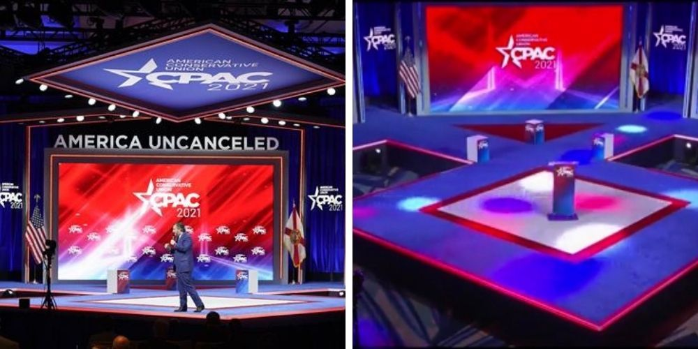 CPAC was accused of featuring a 'Nazi stage'—now a design firm has debunked that hoax