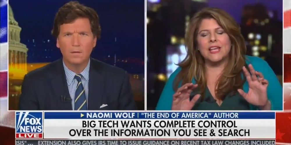 WATCH: Liberal activist Naomi Wolf on why she's uniting with conservatives to fight against Big Tech censorship