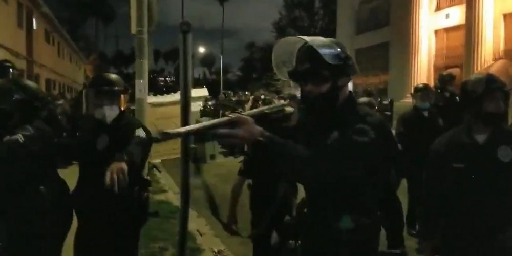 Los Angeles police declare an unlawful assembly in Echo Park for the second night in a row