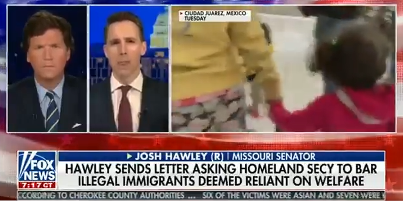 WATCH: Senator Hawley says southern border crisis is due to Biden's open border policies