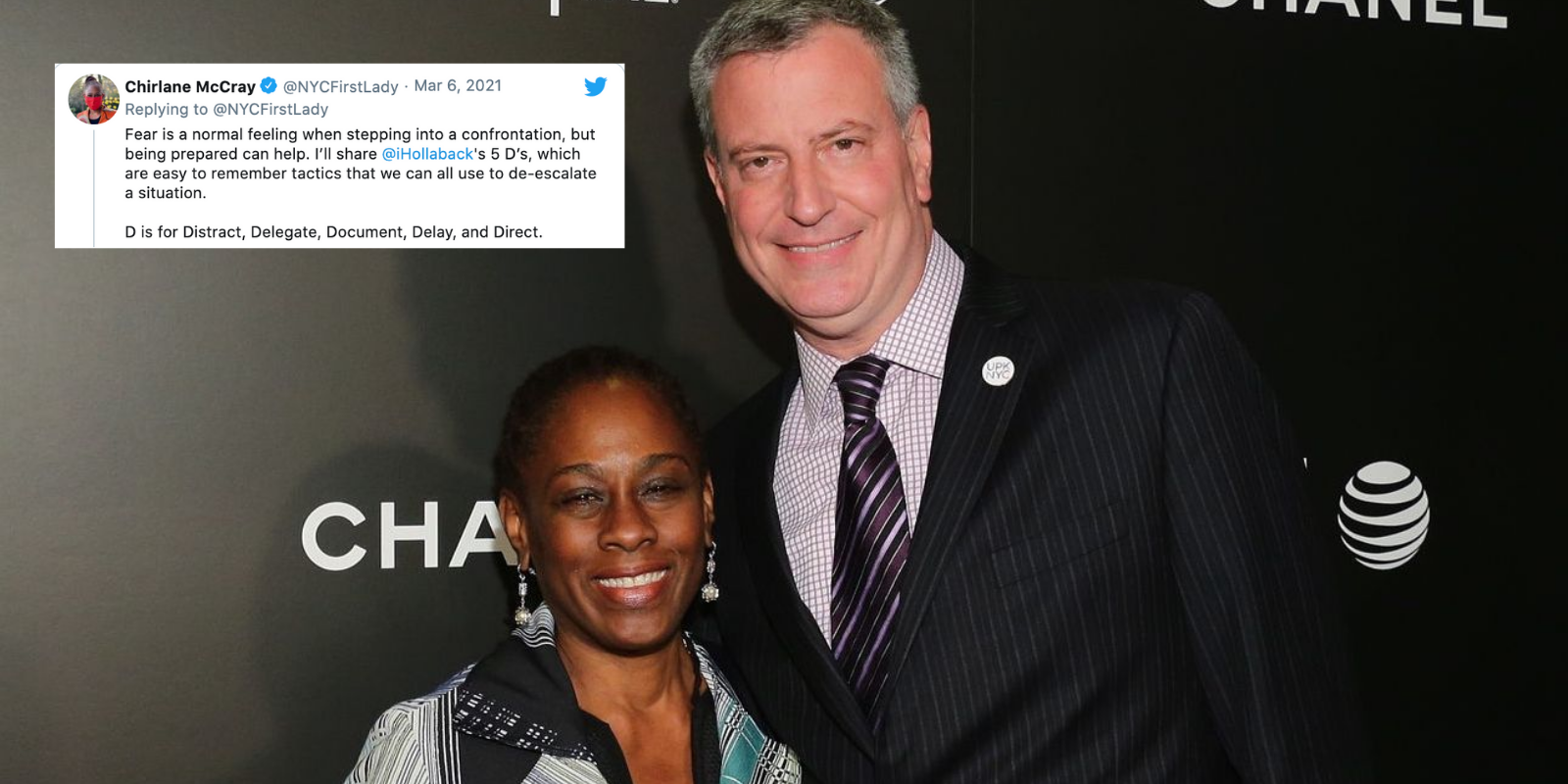 New York's First Lady advises you to intervene directly if you see a hate crime—not to first call the police
