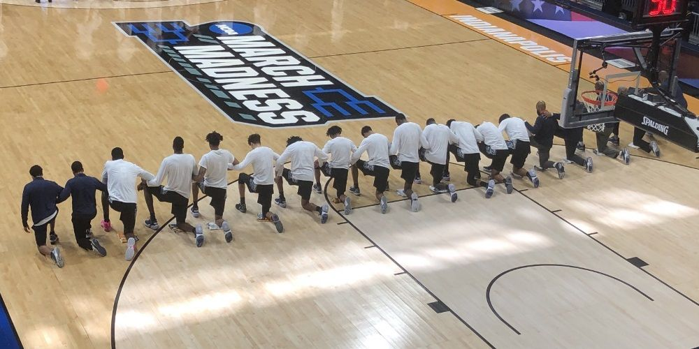 Georgetown kneels for anthem during March Madness, loses by 23 points and is eliminated from tournament