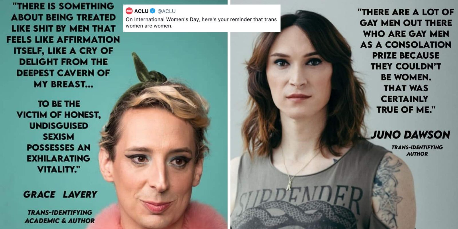 International Women's Day narrative hijacked by trans rights activists