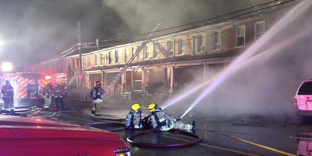 Five in hospital, four missing after Oshawa townhouse fire
