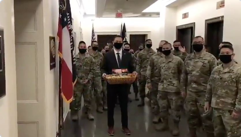 WATCH: Democrat congressman marches National Guard troops to GOP representative's office