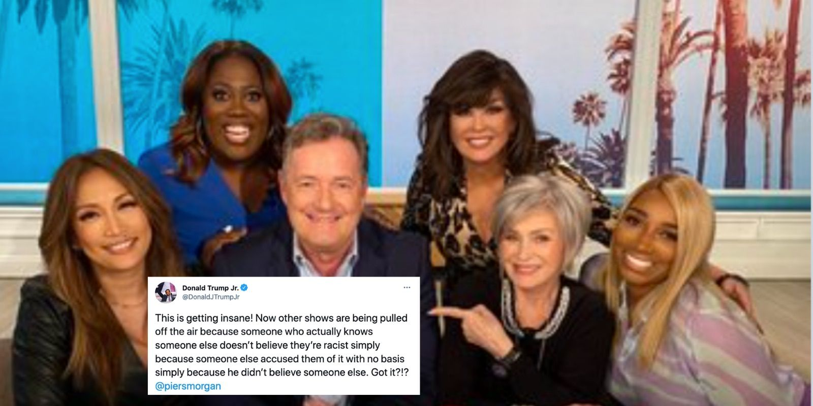 The Talk pulled from the air after Sharon Osbourne defended Piers Morgan over Markle comments