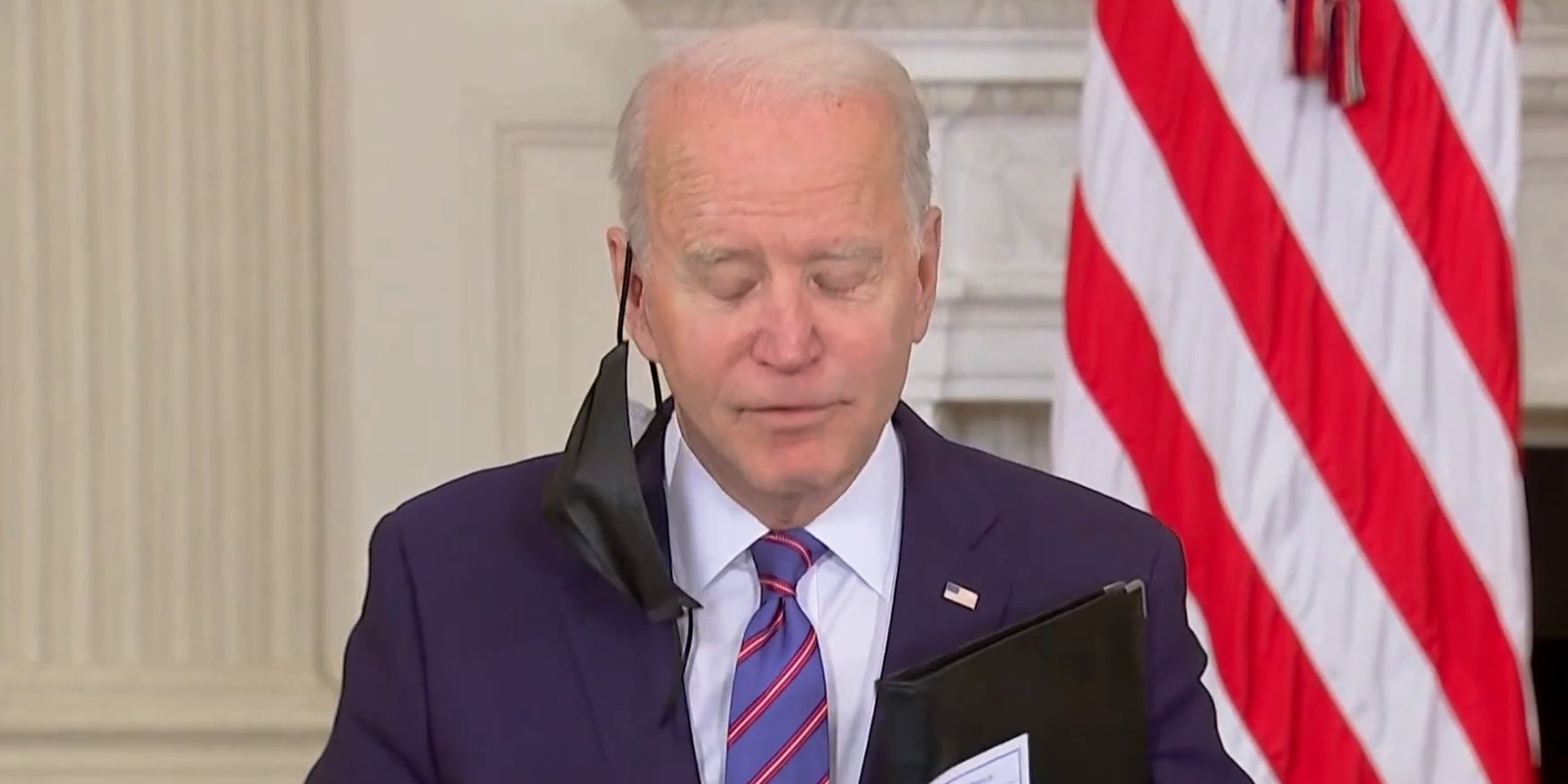 WATCH: President Biden warns that COVID is not over as he touts his 'infrastructure plan'