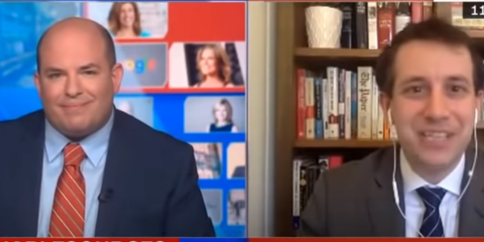 WATCH: CNN's Brian Stelter is really upset that Fox News personalities aren't sharing 'vaccine selfies'